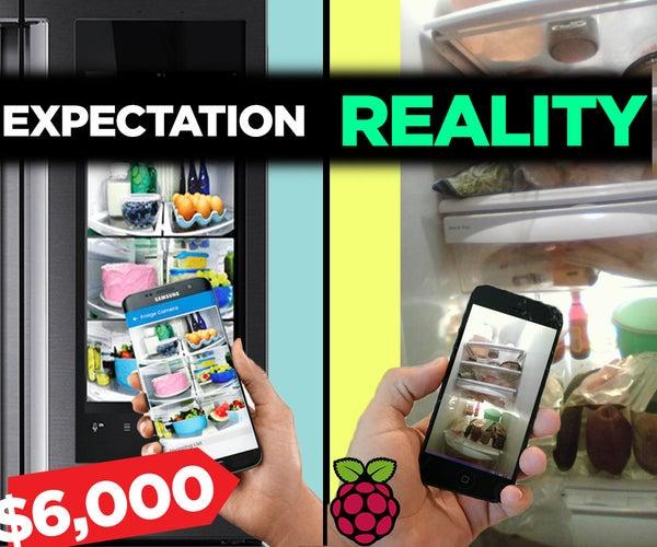 "DIY ""Family Hub"" Refrigerator With Raspberry Pi + Camera"