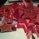 Simple to Make... Rustic Wooden Star Christmas Tree Decorations