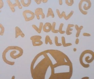 How to Draw a Volleyball!
