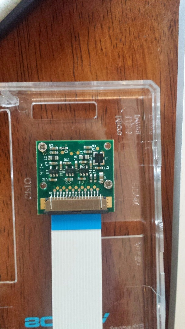 Step 2: Attach the Raspi Camera to the Clear Case