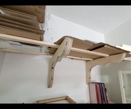 用于储存纸板的超级架子
