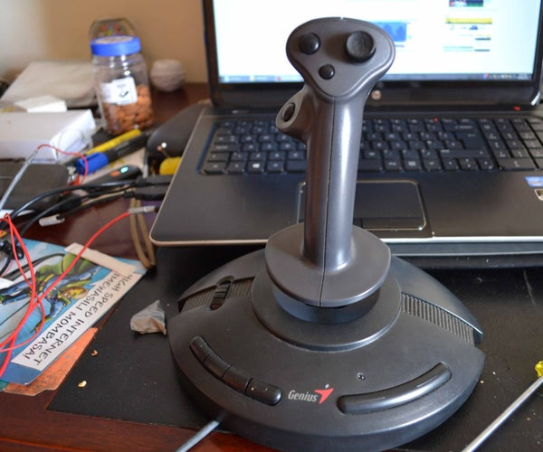Taking Apart an Old Joystick for Parts