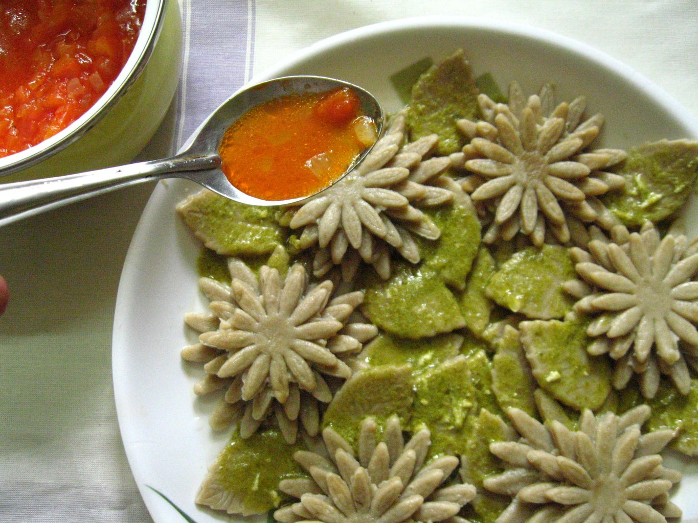 Arrange the Cooked Pasta and Serve With Sauce