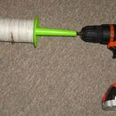 Kite string winder using cordless drill