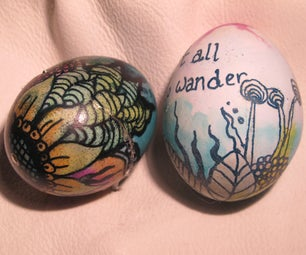 Egg Decoration: Wax Resist With Vinegar Etching and Bleaching