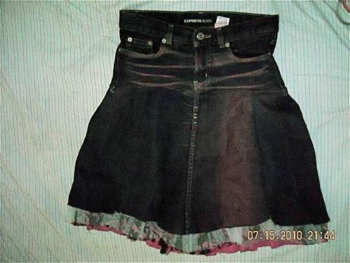 Denim Petticoat skirt