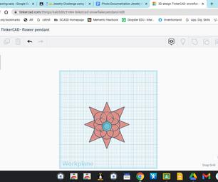 Spiky Flower Pendant