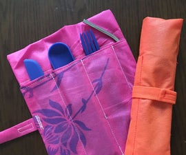 Orange Cutlery Pouch