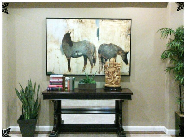 How to Add Character to a Plain Wall by Paint and Accessorizing