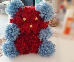 如何用羊毛和缝纫线制作泰迪熊