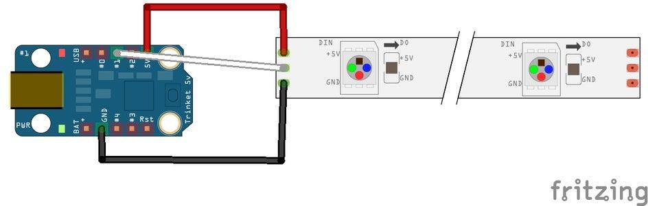 Soldering LED Strip to Trinket