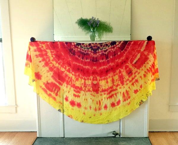 """Tie Dye: """"Fire"""" Veil"""