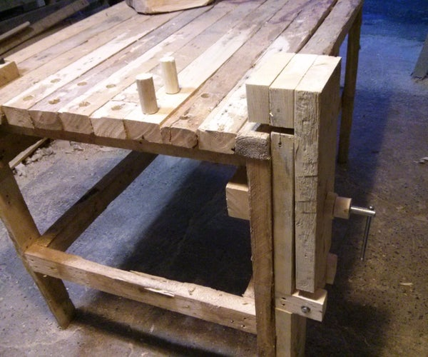 Woodworkers Bench Vise From an Old Clamp