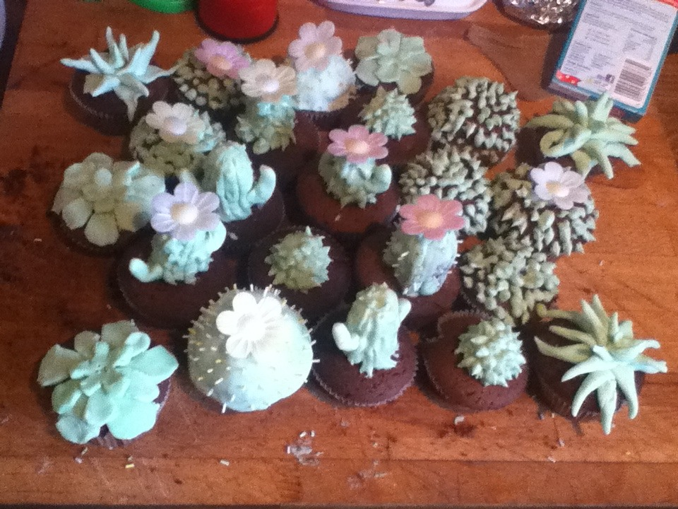 Cactus Cakes For People That Haven't Decorated Cakes Before