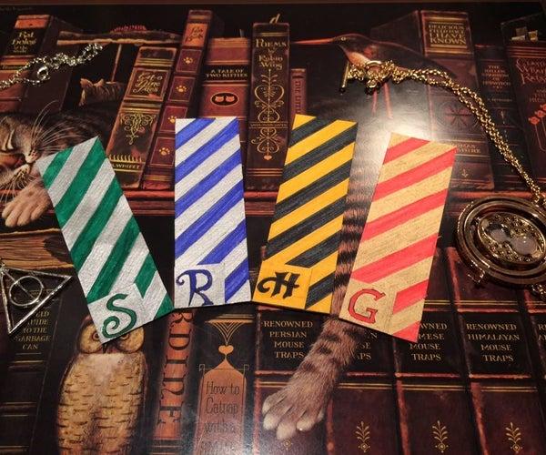 DIY : Harry Potter Bookmarks (Houses of Hogwarts)