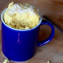 Coconut Mug Cake - Made in the Microwave in 2 Minutes!