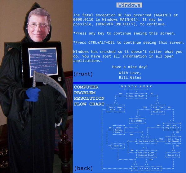 Blue Screen of Death - Bill Gates Reaper