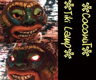 Coconut Tiki Lamp