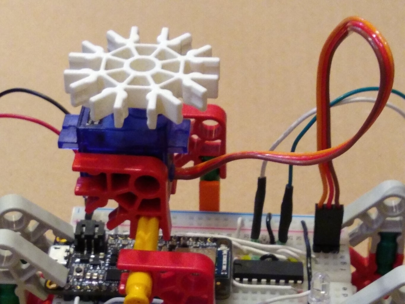 Attach and Install the Servo Motor