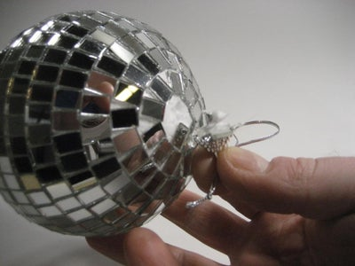 Remove the Hanging String Mount From the Mirror Ball
