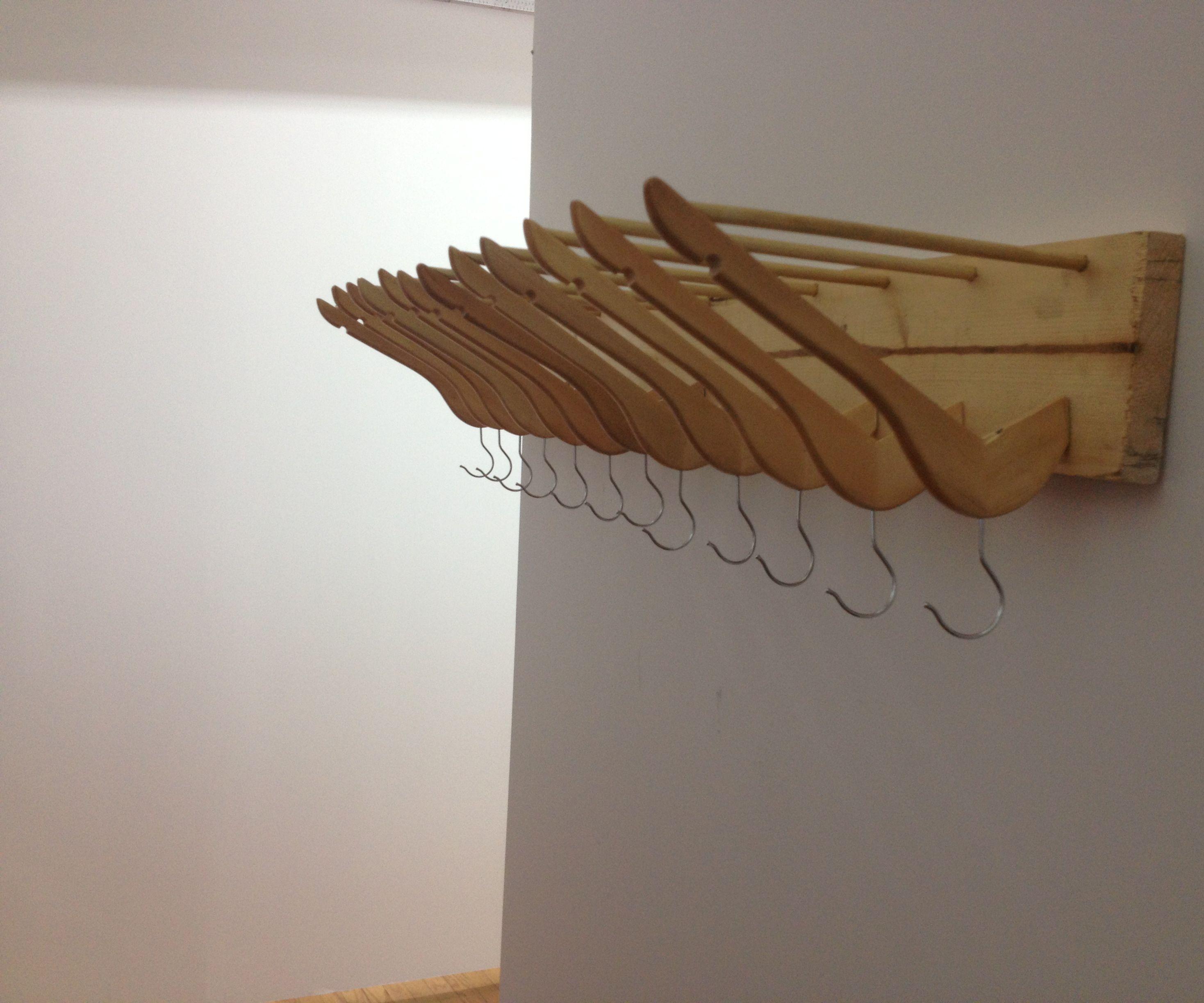 Recycled Coat Hanger Coat Rack