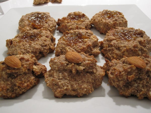 Maple-Almond Thumbprint Cookies