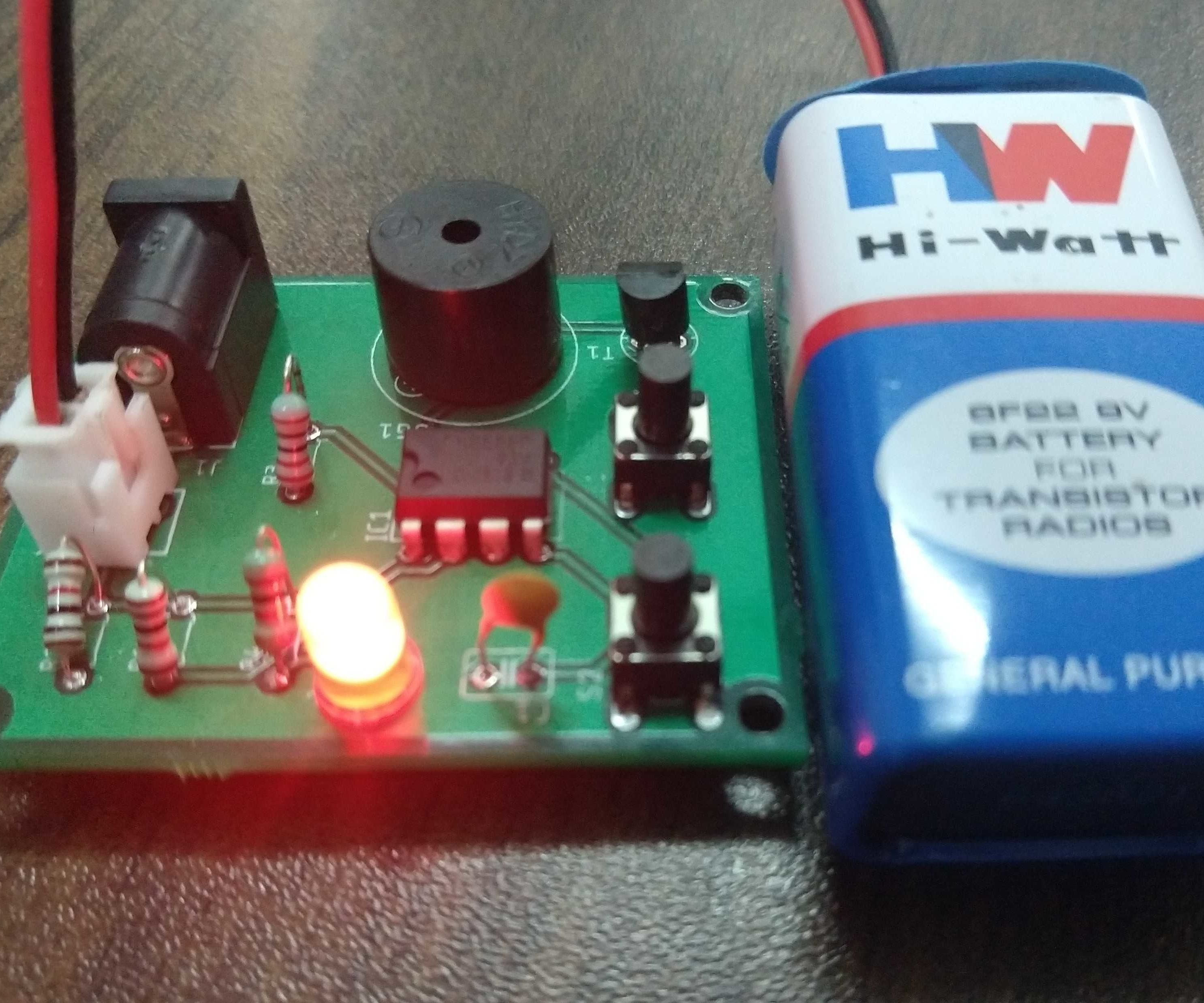 Panic Alarm Button Circuit Using 555 Timer IC (Part-2)