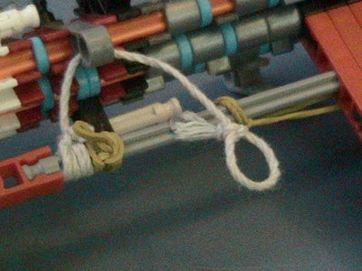 Attach String and Rubber Bands