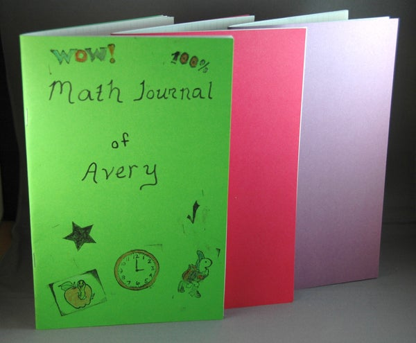 Easy, Low-cost Math Journals