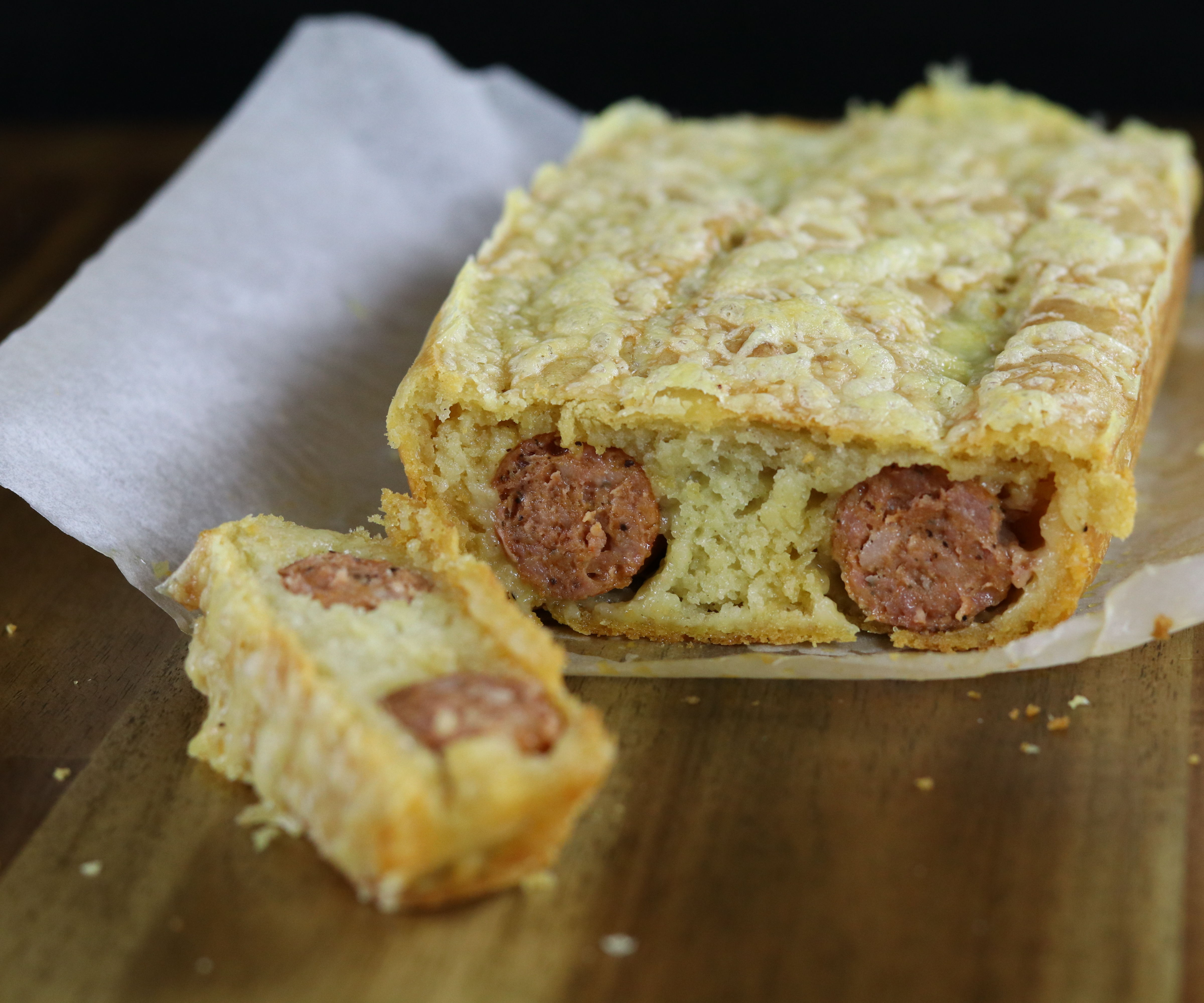 Double Dog (sausage stuffed bread)