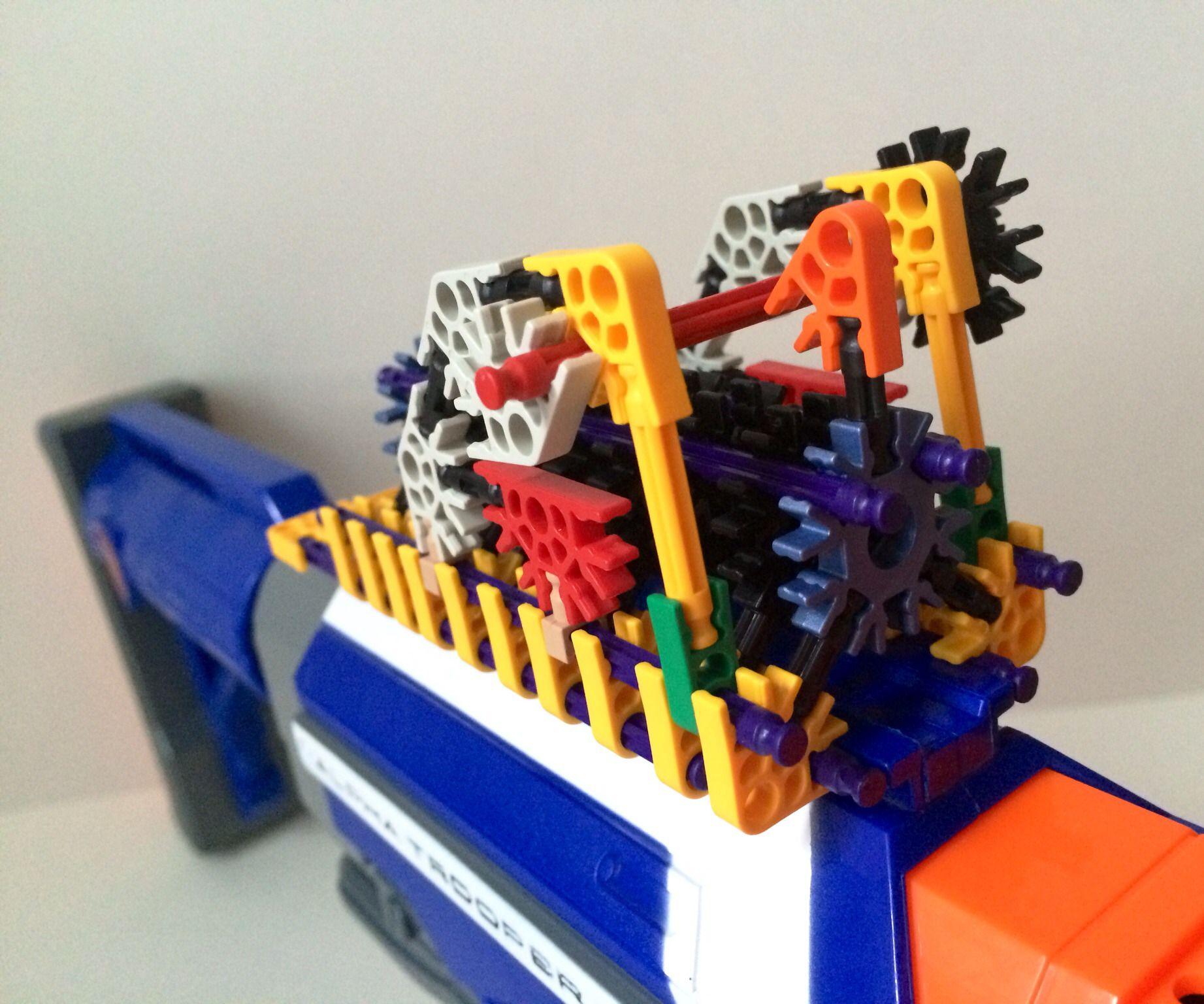 Make A K'nex Custom Attachment For Your Nerf Blaster!