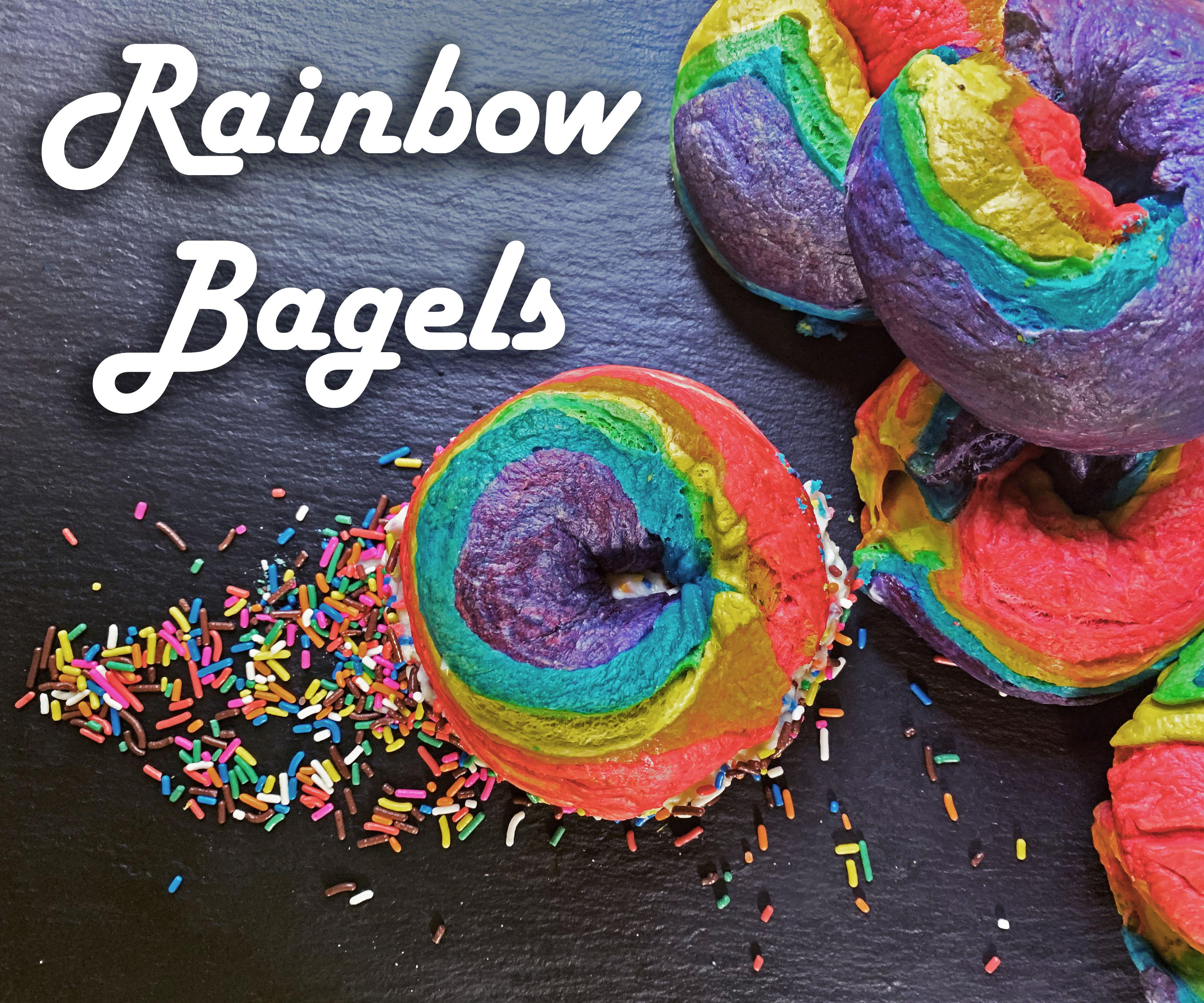 DIY Rainbow Bagels