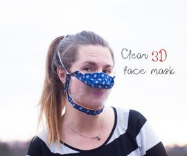Clear 3D Face Mask