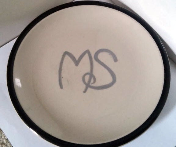DIY Monogrammed Plate