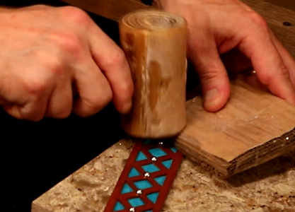 Place Cardboard on Cuff and Tap