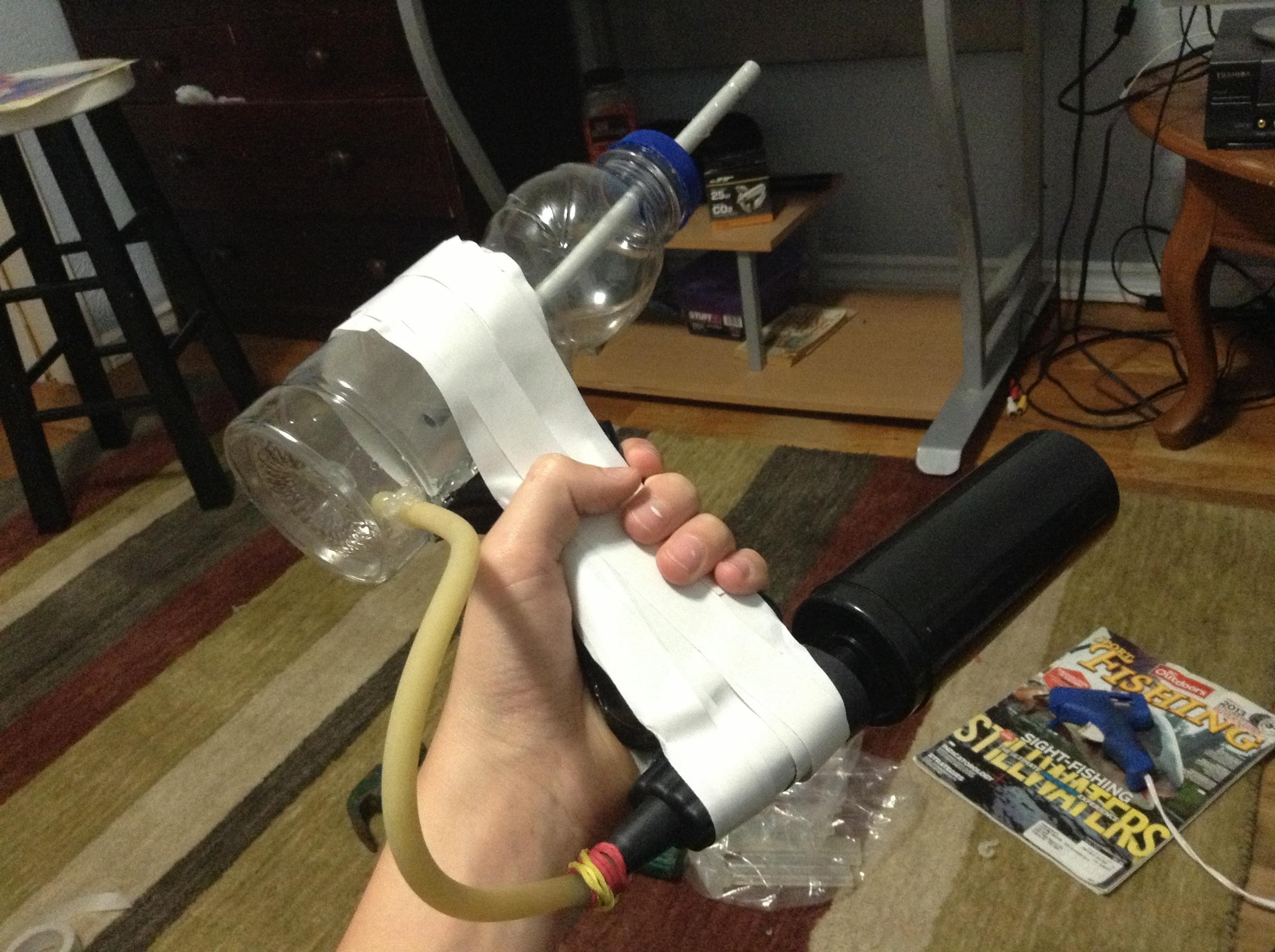 How To Make A Pump Action Airsoft/ Bb Machine Gun., Super Easy!!