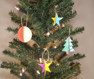 How to Make 3D Tree Ornaments for Christmas