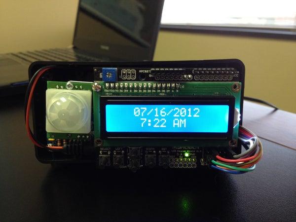 Motion Sensitive LCD Real-Time Clock/Alarm/Timer (Updated Program)