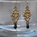 Beade earrings - Lsange earrings - Beading and jewelry making tutorial
