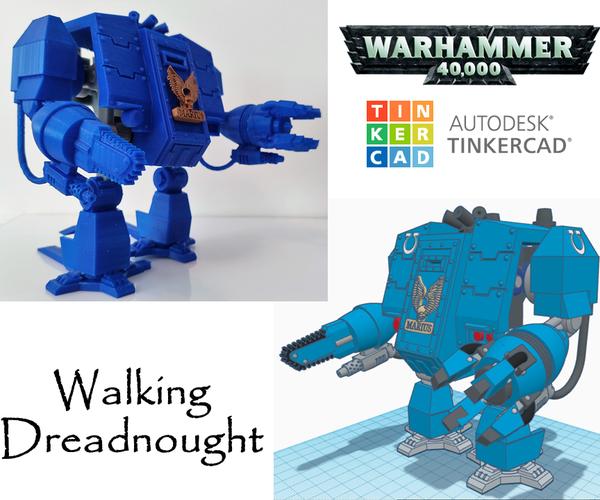 Tinkercad Robotics for (High) School: Walking Warhammer 40K's Dreadnought!