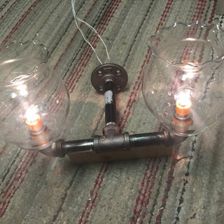Pipe Lamp With Valve Switch & Phone Charger
