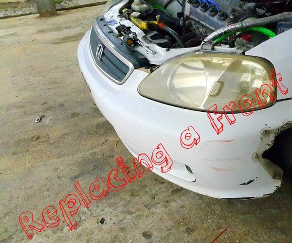 Replacing a Front Bumper (Honda Civic 1999)!
