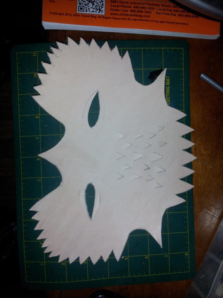 Make Your Template and Cut Out the Leather for Your Mask