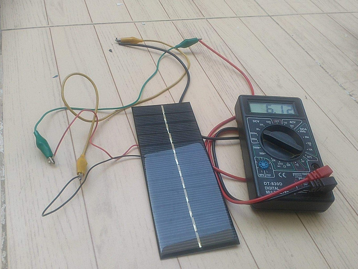 Solder Wires Into Solar Panel and Open the Charger