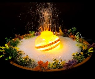 LED Tabletop Water Fountain