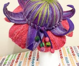 Felted Fuchsia Fairy Hat
