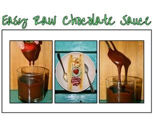 Easy Raw Chocolate Sauce