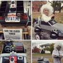 Awesome Back to the Future costume (Doc Brown and Delorean)