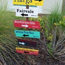 Horror Movie Towns Directional Sign