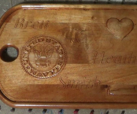 Giant Wooden Dog Tag